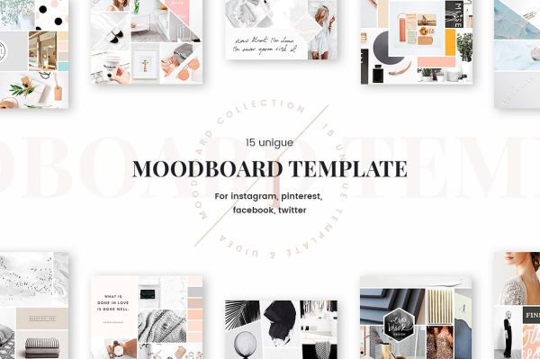 fashion mood board template - the best mood board designs that will keep you cheerful