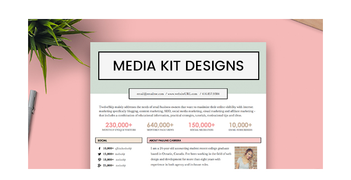 Splendid Media Kit Designs for Your Personal Websites and Blogs
