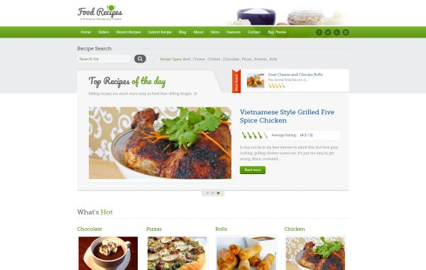 Recipes wordpress themes for june 2017 gt3 themes a fully responsive feature rich and beautifully designed wordpress theme for recipes related websites this theme is perfect for professional chefs and forumfinder Gallery