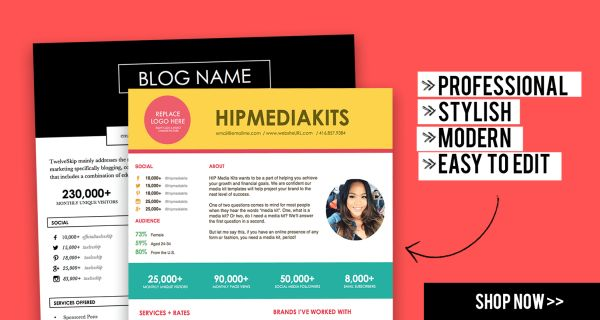 Splendid Media Kit Designs for Your Personal Websites and Blogs ...