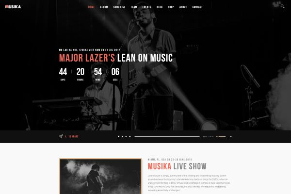 Music and Bands WordPress Themes for Summer 2017 | GT3 Themes
