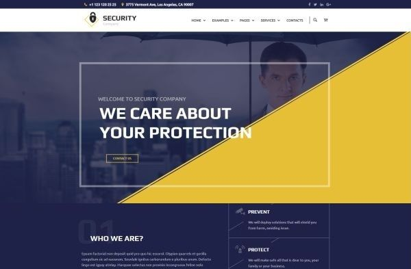 Police, Guarding and Security WordPress Themes for Summer 2017 | GT3 ...