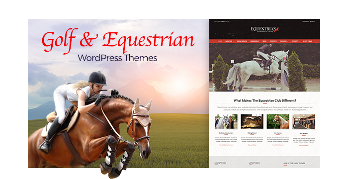 Golf, Equestrian, and Active Leisure WordPress Themes 2017