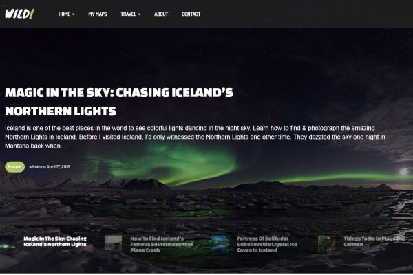 Travel Blog WordPress Themes for Adventure Lovers 2017 | GT3