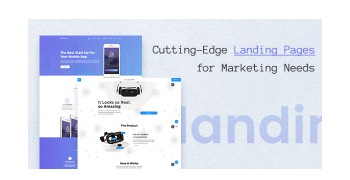 Cutting-Edge Landing Pages for Marketing Needs