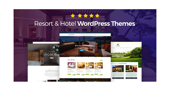 Resort and Hotel WordPress Themes for August 2017