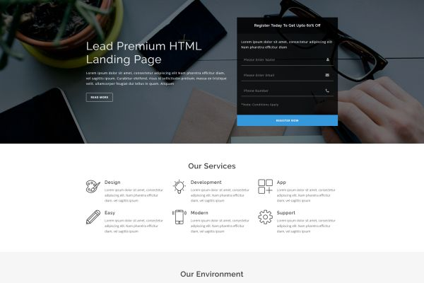 CuttingEdge Landing Pages For Marketing Needs GT Themes - Simple landing page html template