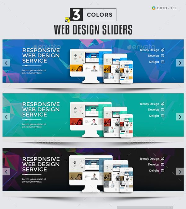 Web design slider template