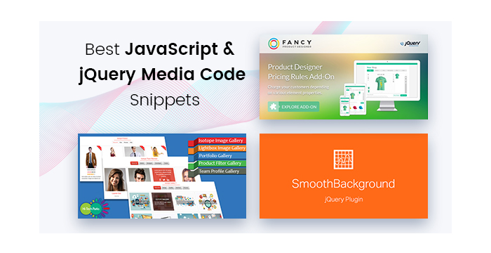 Best JavaScript & jQuery Media Code Snippets for Your Sites
