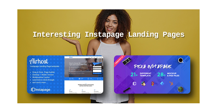 Interesting Instapage Landing Pages to Promote Your Products and Works