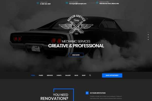 Car Services And Auto Tuning Wordpress Themes For Repairmen And Auto Care Masters Gt3 Themes