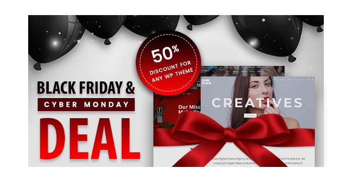 Black Friday and Cyber Monday Deal from GT3 - Get Any WP Theme with a 50% Discount