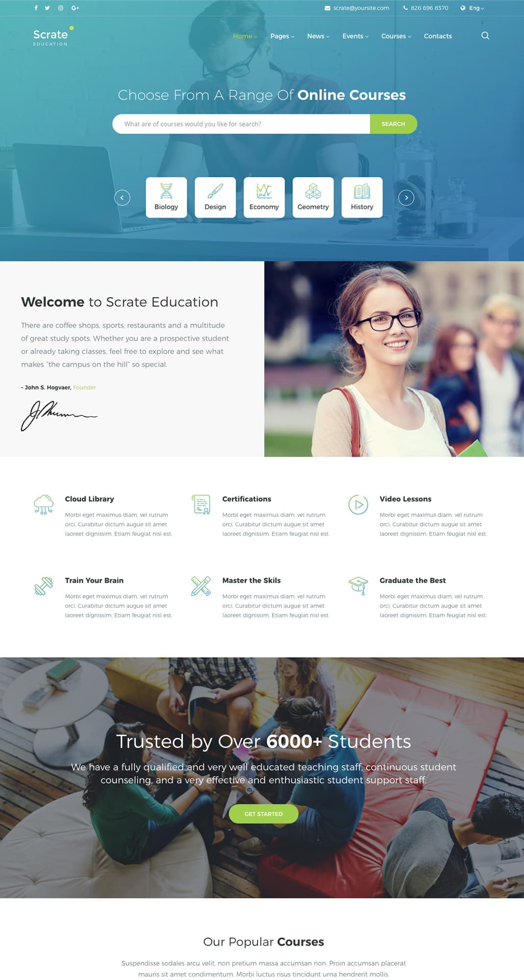 Scrate Wordpress Theme For Education And Teaching Online Courses