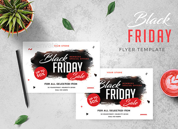 Black Friday And Cyber Monday Flyers Objects Cards Email Newsletters And More Gt3 Themes