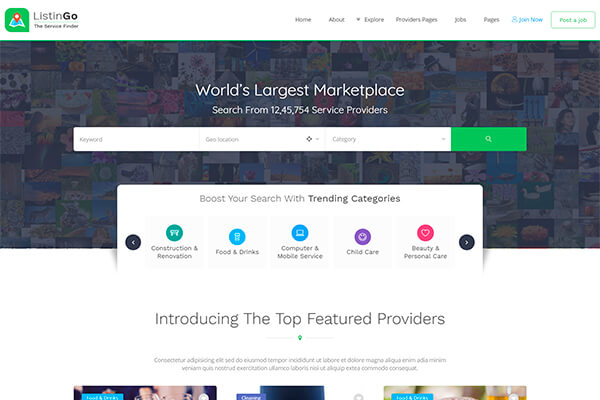 Newest wordpress themes for miscellaneous needs gt3 themes an ultimate directory theme crafted for service providers the template has a clean and contemporary design as well as a lot of awesome features wajeb Image collections