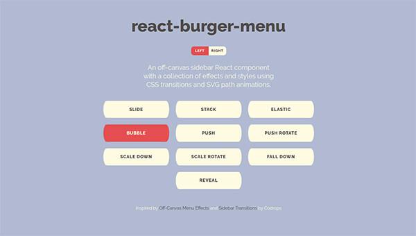 React push menu