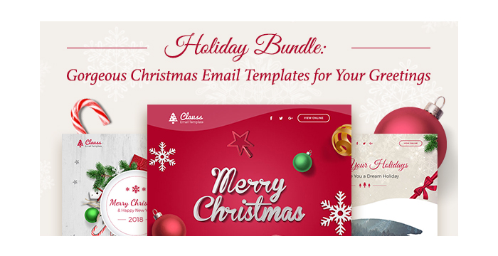 Holiday Bundle Gorgeous Christmas Email Templates for Your Greetings