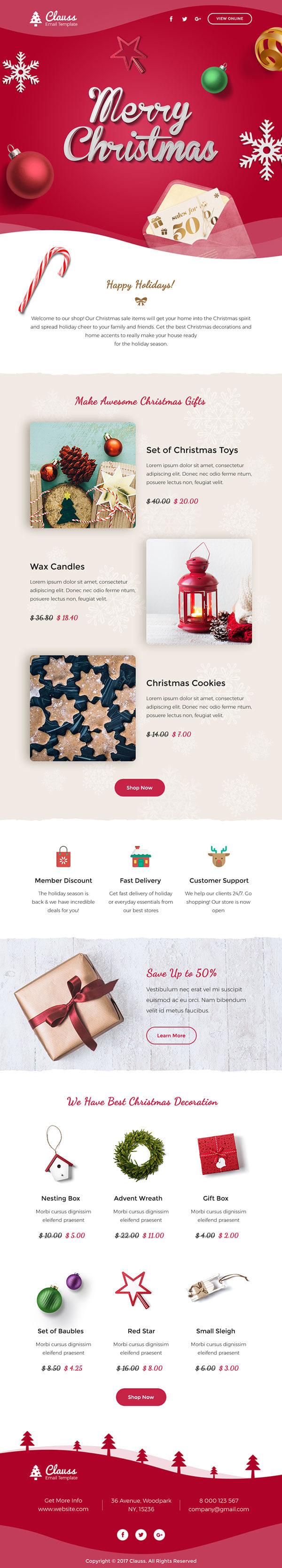 merry christmas email template - Tikir.reitschule-pegasus.co