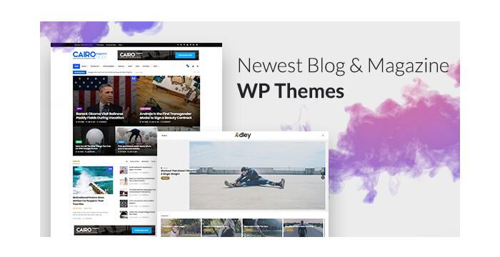 Newest Blog and Magazine WordPress Themes To Tell Your Stories on The Web