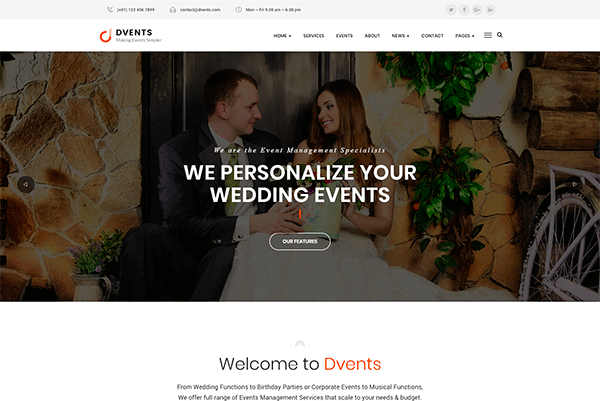 Event and Conference WordPress Themes to Promote Parties and