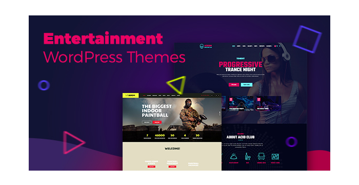 Entertainment WordPress Themes for Night Clubs, Golf Clubs, Music Events and More