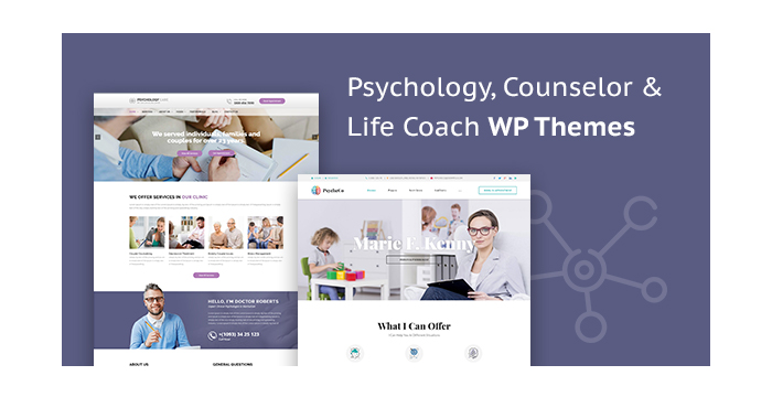 Psychology, Counselor and Life Coach WordPress Themes for March 2018