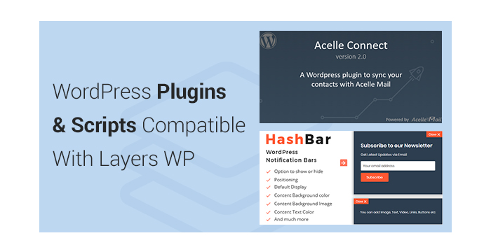 WordPress Plugins and Scripts Compatible With Layers WP