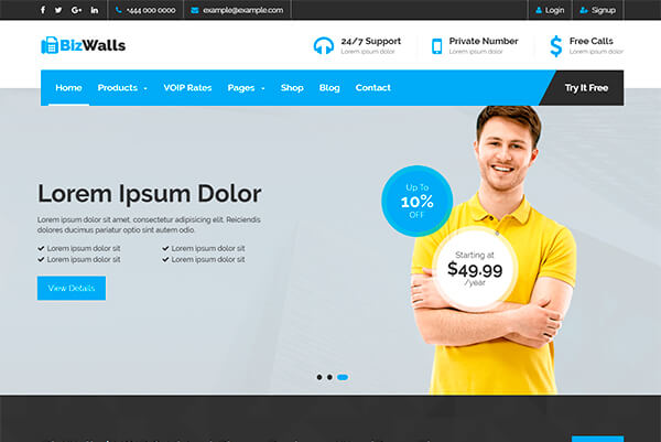 Marketing and promotion wordpress themes for digital agencies and a multipurpose voip virtual phone business wordpress theme designed for all kinds of voip telecom cloud service hosting business friedricerecipe Images