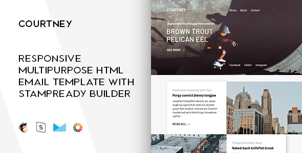 TopQuality Modern Email Templates GT Themes - Hybrid email template