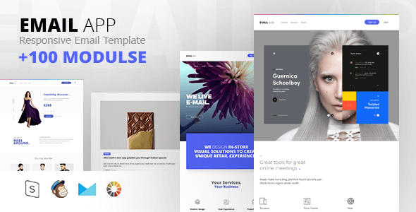 TopQuality Modern Email Templates GT Themes - Minimal email template
