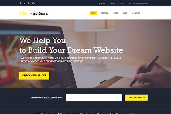Hosting and Cloud Services WordPress Themes for Reputable Providers