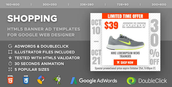 Newest Ad Templates for Google Web Designer Software | GT3 Themes