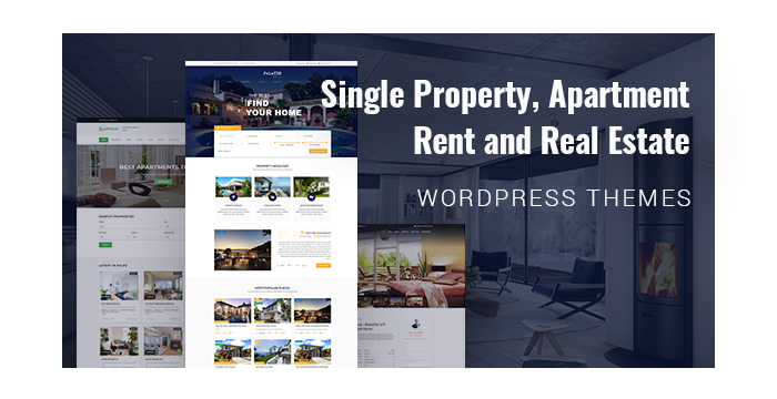 Single Property, Apartment Rent and Real Estate WordPress Themes for March 2018