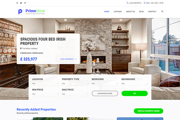 Single Property, Apartment Rent and Real Estate WordPress Themes for ...